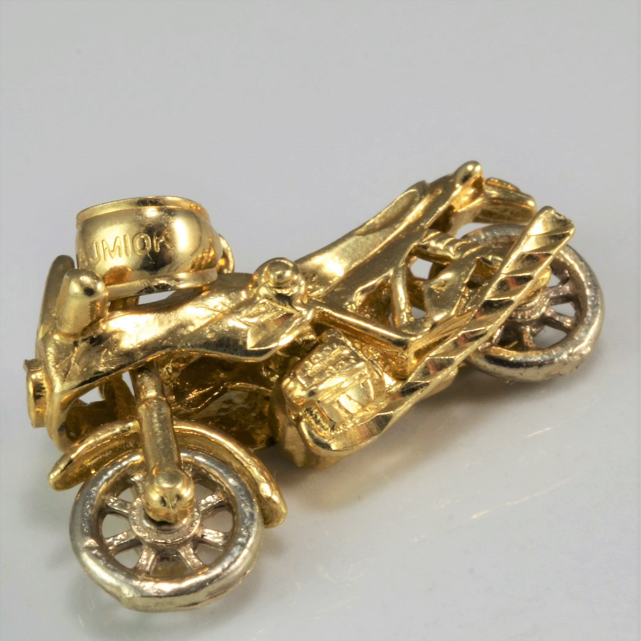 Yellow Gold Motorcycle Pendant