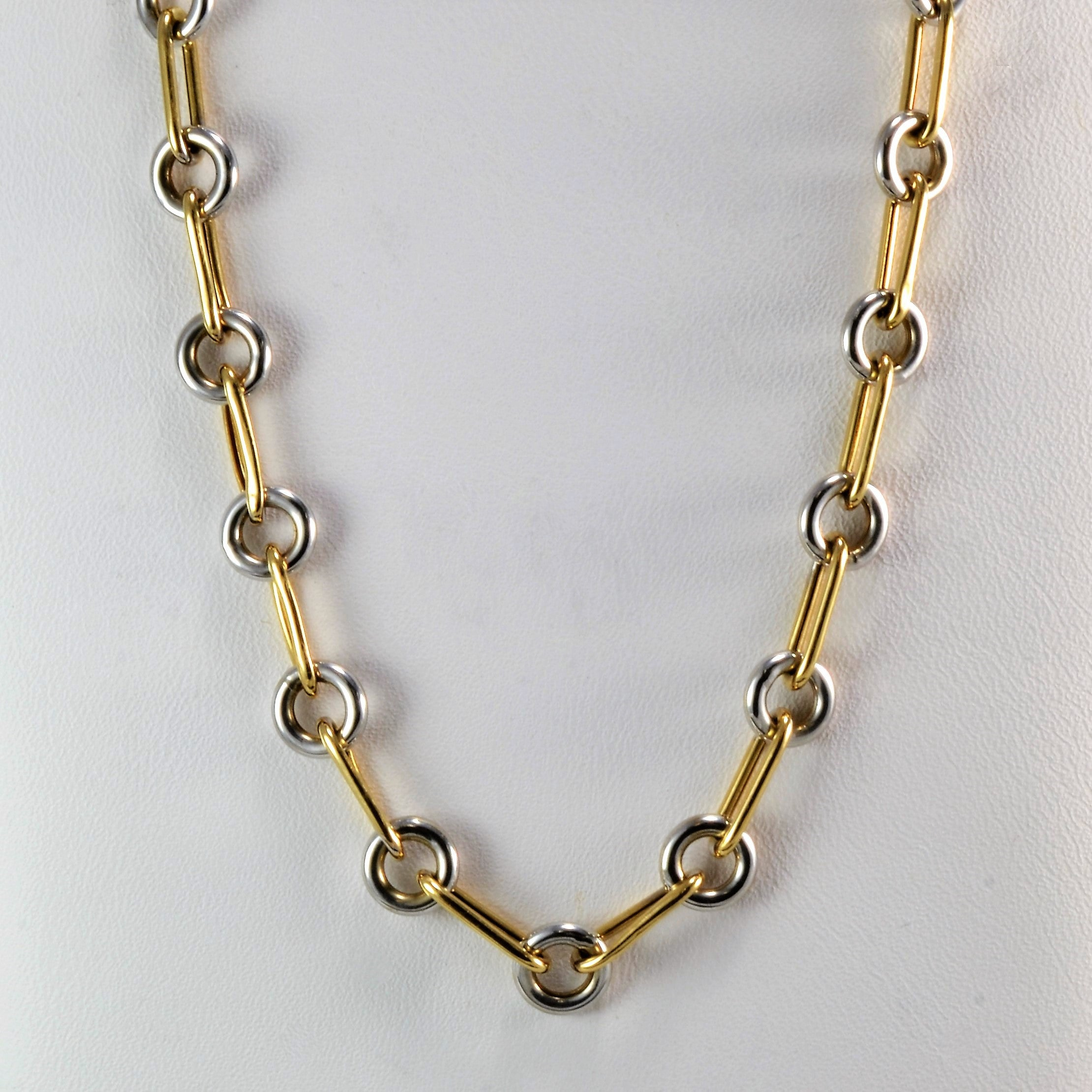 Two Tone Link Necklace | 20"