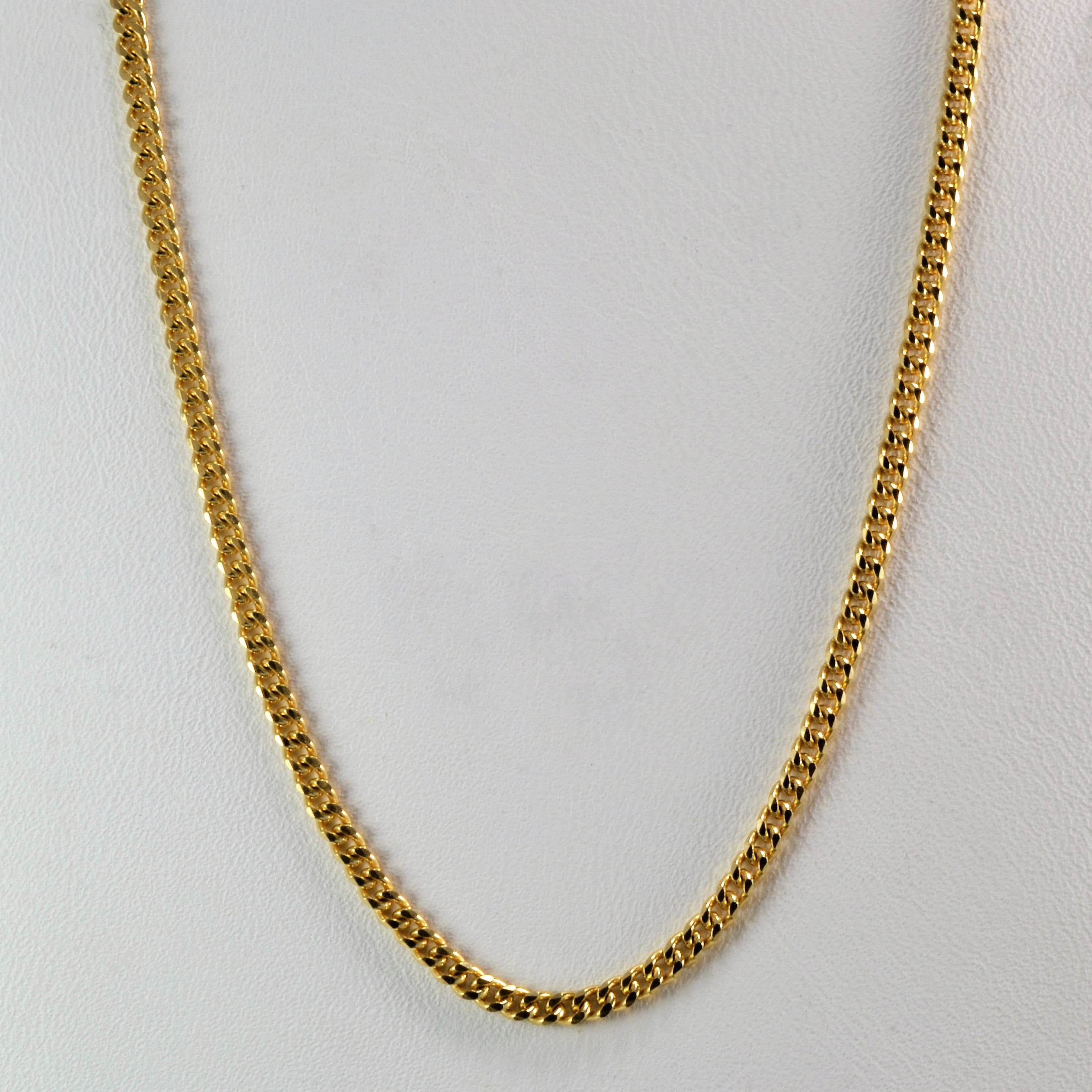Yellow Gold Curb Link Chain | 17"