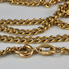 Basic Yellow Gold Link Chain | 24"
