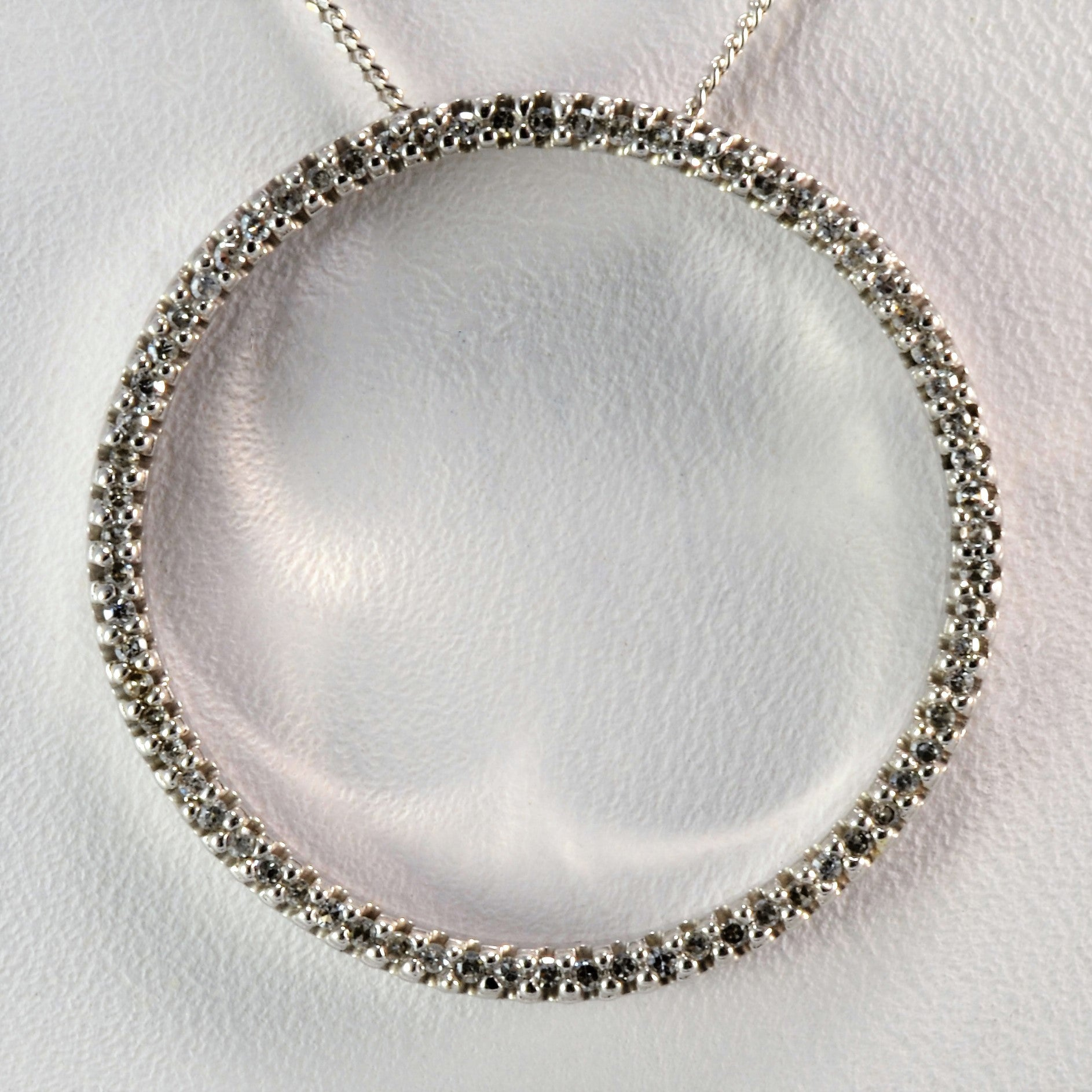 Classic Diamond Circle Necklace | 0.32 ctw, 17"