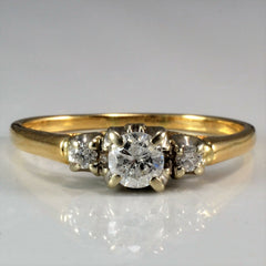 Simple Three Stone Diamond Ring | 0.34 ctw, SZ 8.25 |
