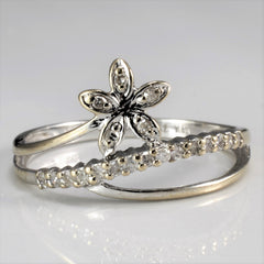 Floral Spiral Ring | 0.10 ctw, SZ 5.75 |