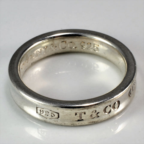 Tiffany & Co. 1837 Silver Band | SZ 5 |