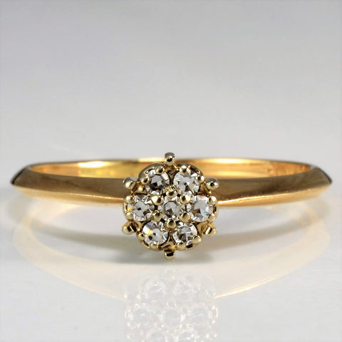 Birks Bevelled Cluster Diamond Solitaire Ring | 0.07 ctw, SZ 5.5 |