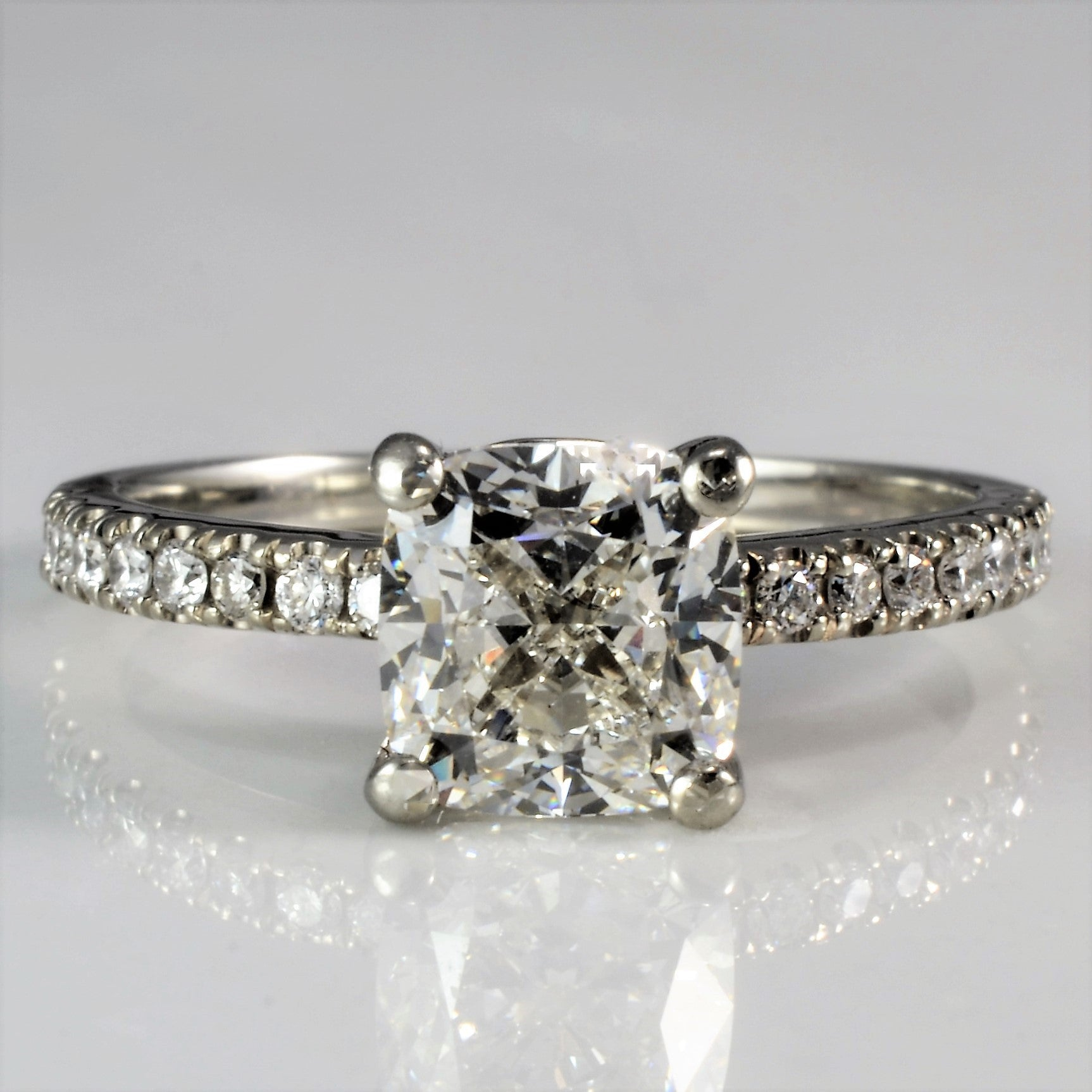 engagement cut jewelers long cushion ring vintage diamond s products