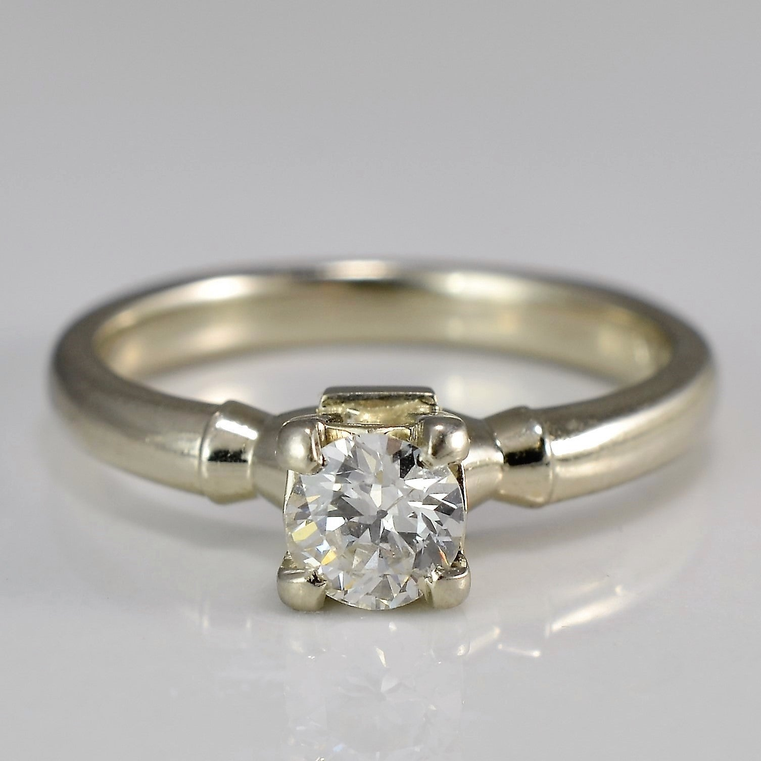 Old European Cut Solitaire Engagement Ring | 0.38 ct, SZ 6 |