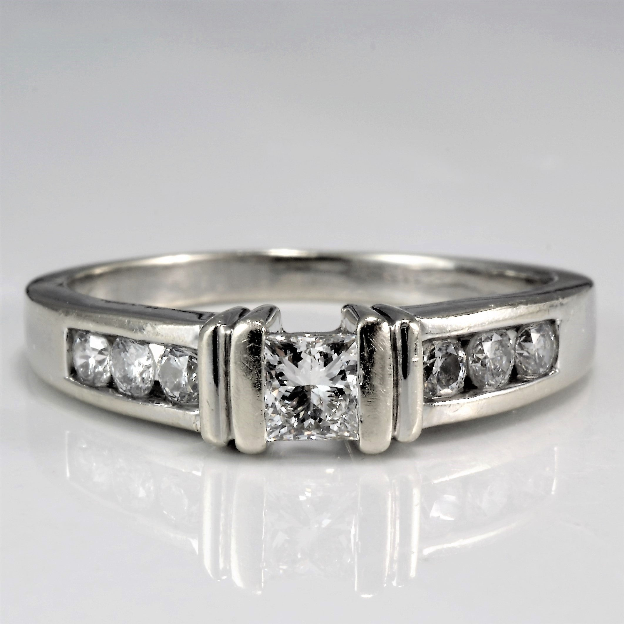 Semi Bezel Set Princess Diamond Engagement Ring | 0.41 ctw, SZ 7.25 |