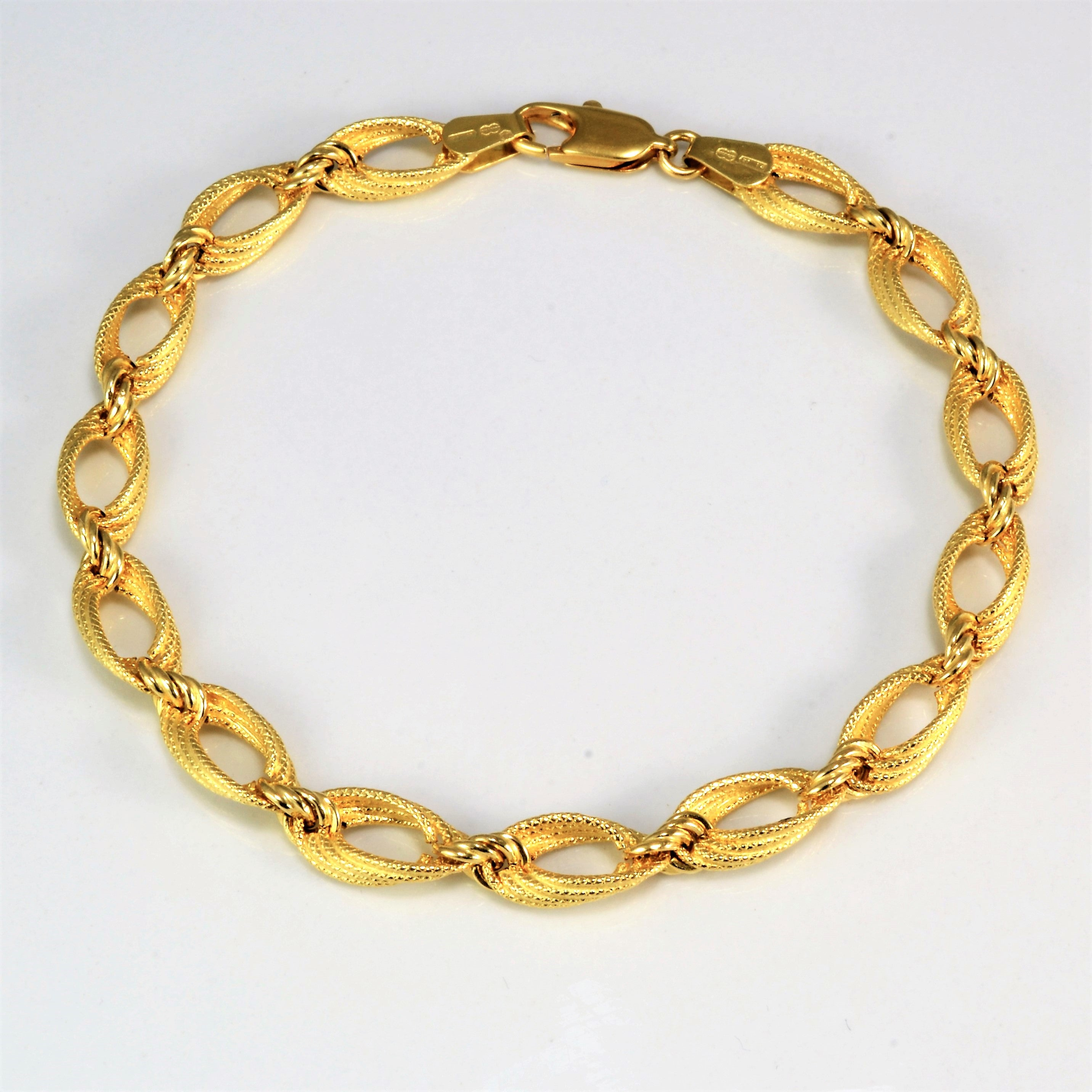 Elegant Braided Chain Bracelet | 7.5'' |