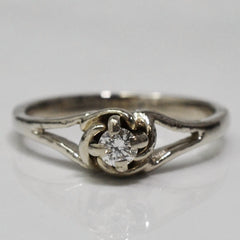 Split Shank Diamond Floral Ring | 0.13 ct, SZ 6.75 |