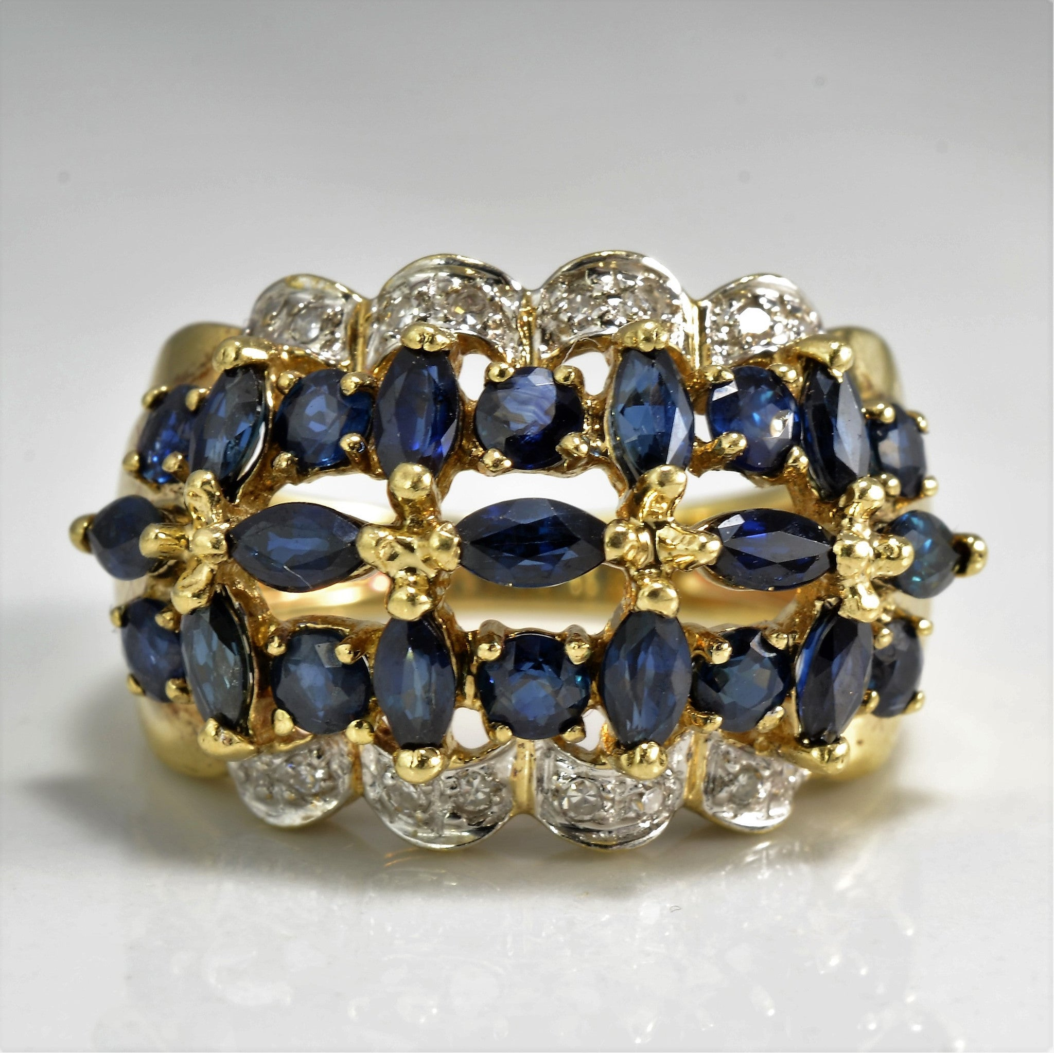 mosseri piece the and marquise abby gold silver shop sapphire jewellery unique in diamond garnered ring product