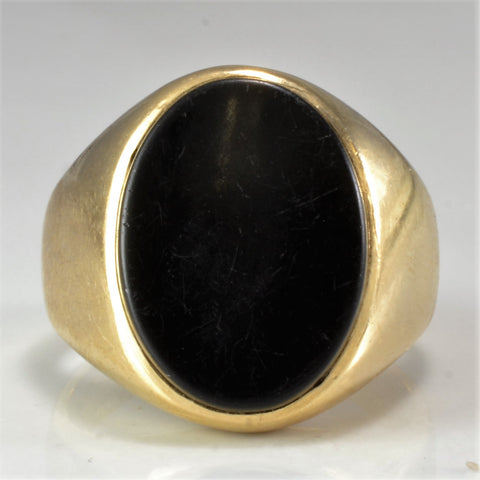 Simple Black Onyx Birks Ring | SZ 6.5 |