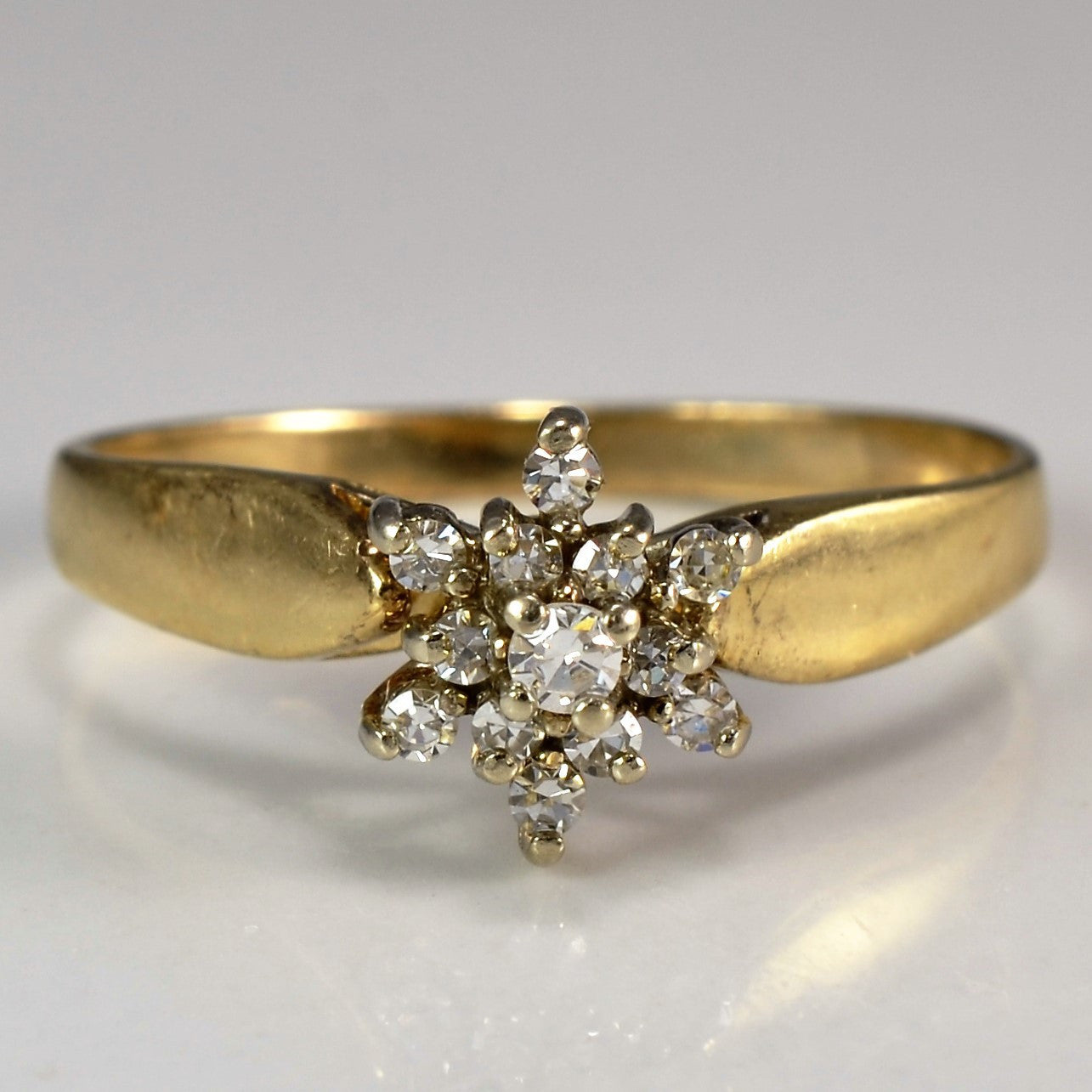 Diamond Floral Cluster Ring | 0.15 ctw, SZ 5.75 |