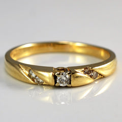 Flush Set Diamond Ring | 0.08 ctw, SZ 7.25 |