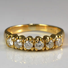 Round Brilliant Cut Diamond Band | 0.25 ctw, SZ 4.5 |