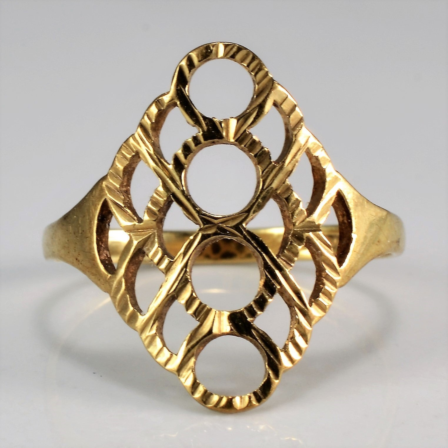 Ornate Gold Cocktail Ring | SZ 4.5 |