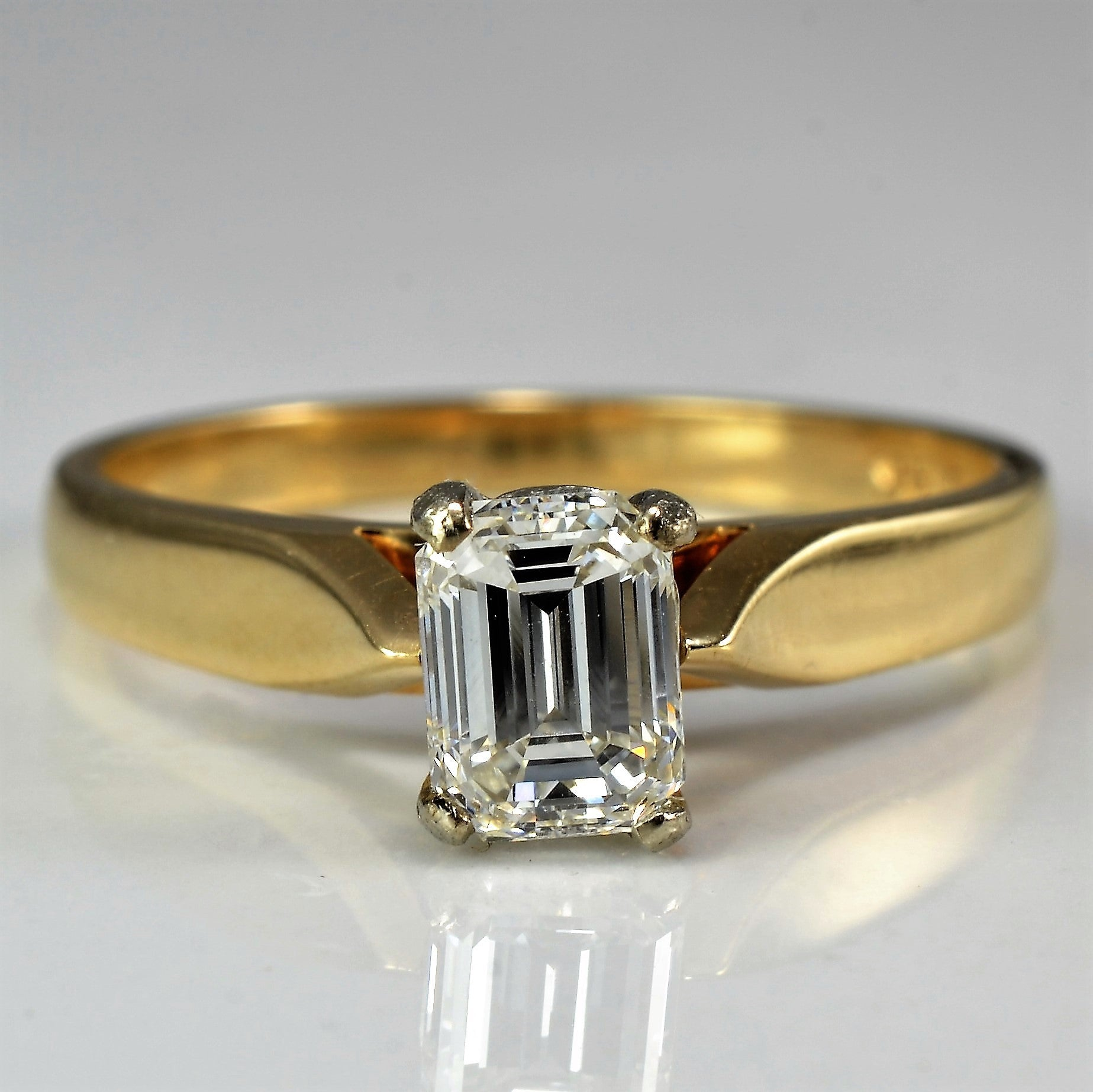 cut solitaire superbright collections diamond emerald products engagement vintage all rings rapturous ring