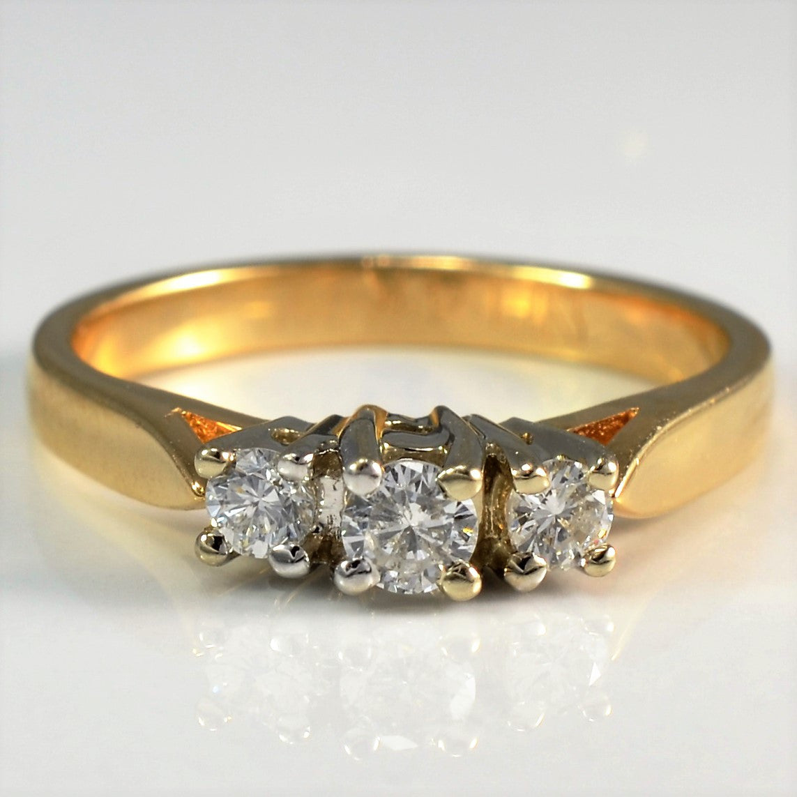 Three Stone Diamond Ring | 0.30 ctw, SZ 6.5 |