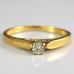 Petite Tapered Solitaire Promise Ring | 0.10 ct, SZ 6.25 |