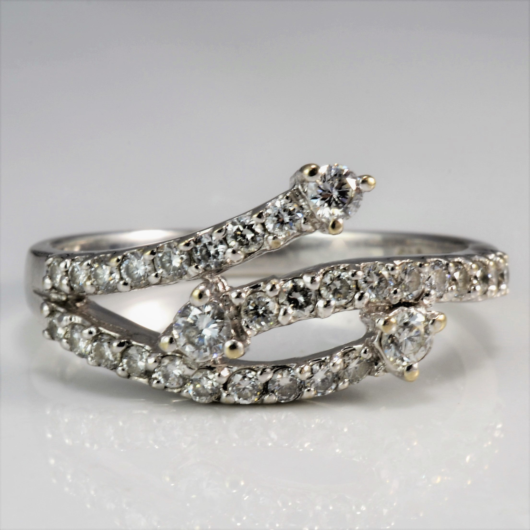 Bypass Pave Set Diamond Ring | 0.40 ctw, SZ 6.5 |