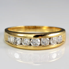 Channel Set Semi Eternity Band | 0.70 ctw, SZ 8.25 |