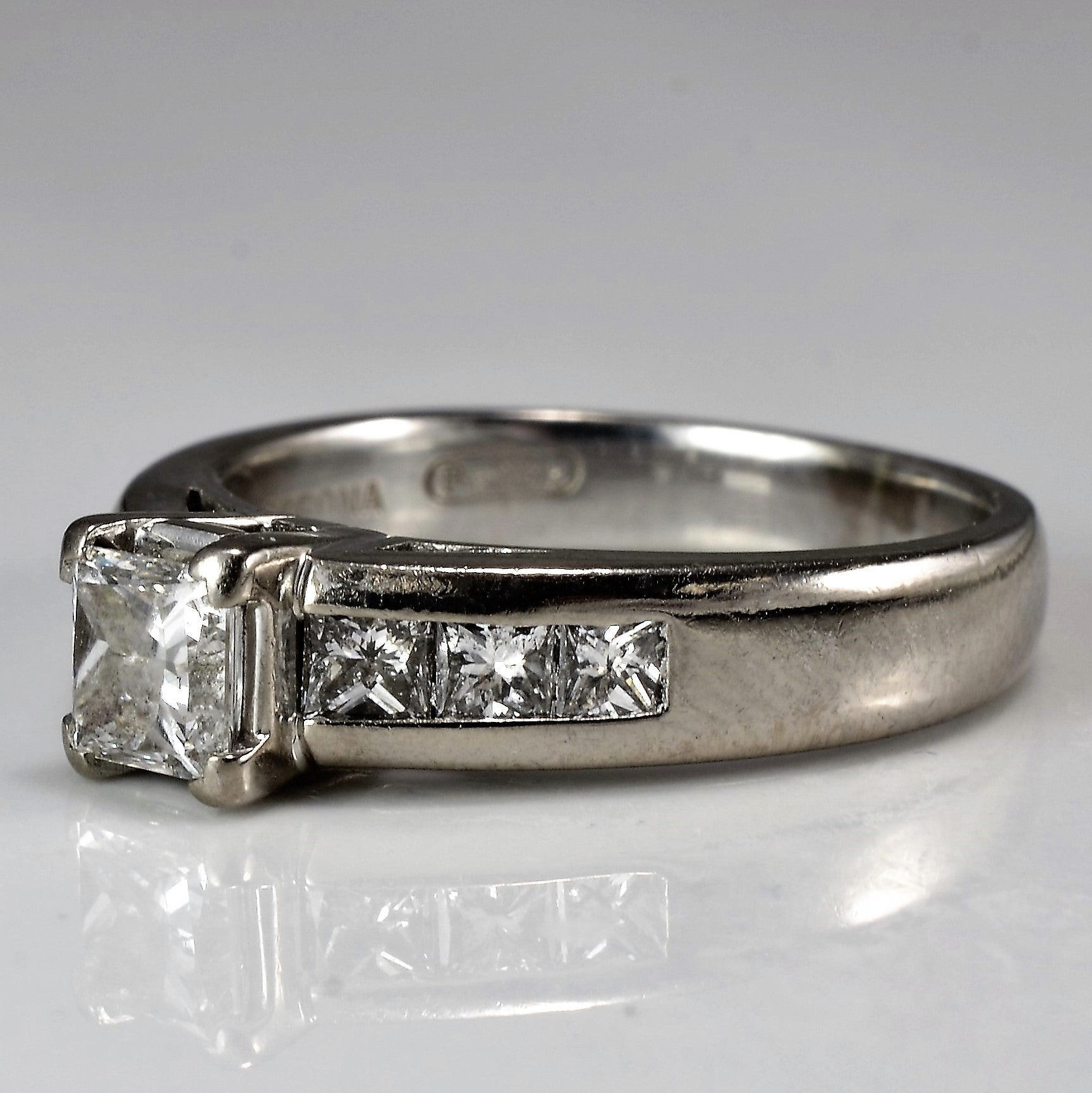 Wide Band Princess Cut Engagement Ring | 1.02 ctw, SZ 6 |