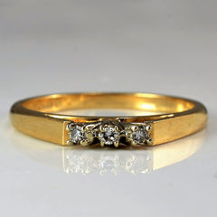 Petite Three Stone Wedding Band | 0.03 ctw, SZ 6.25 |