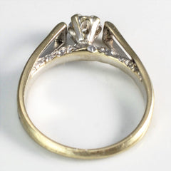 Retro Era Open Cathedral Solitaire Ring | 0.08 ct, SZ 5 |