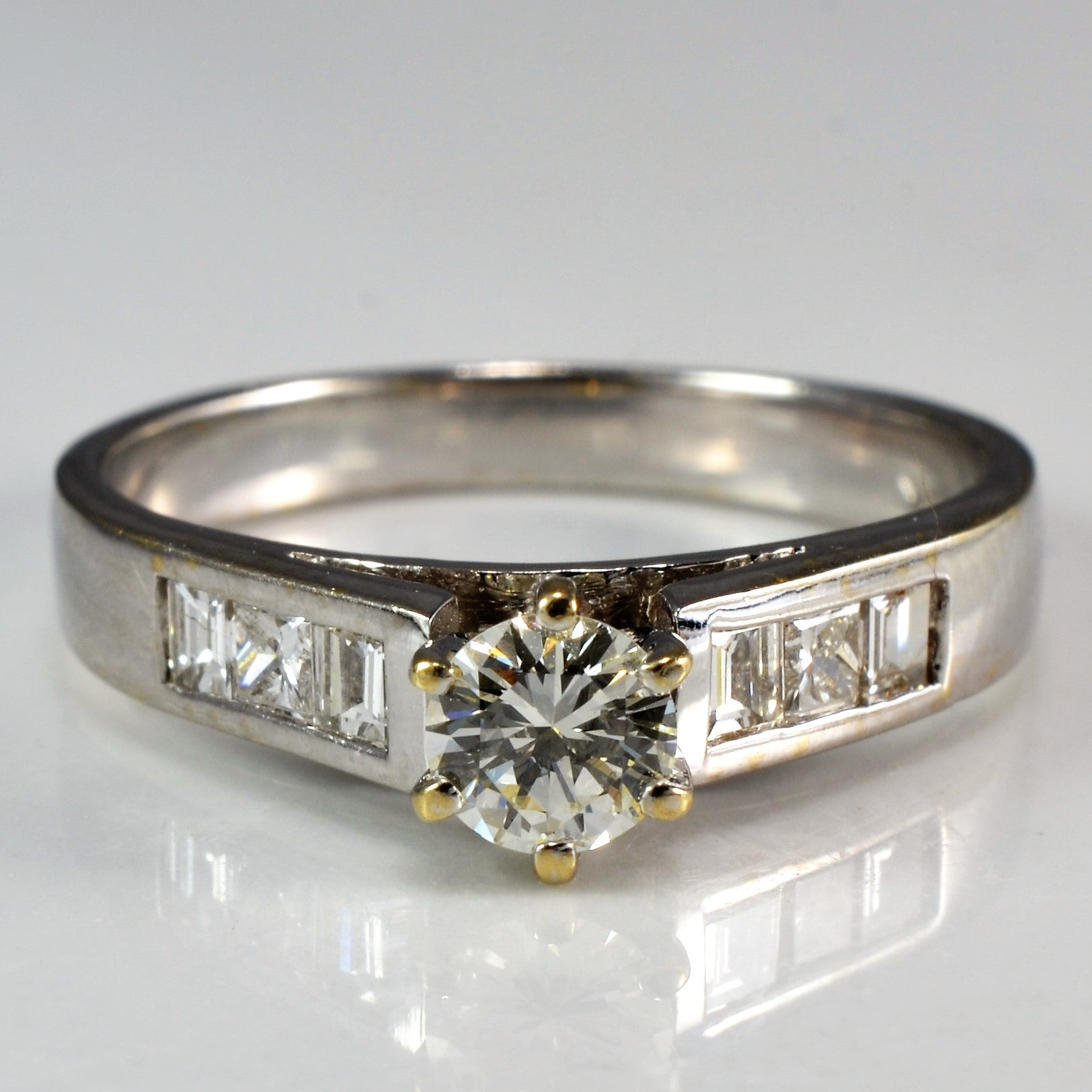 Princess Diamond Detailed Engagement Ring | 0.50ctw | SZ 5.5 |