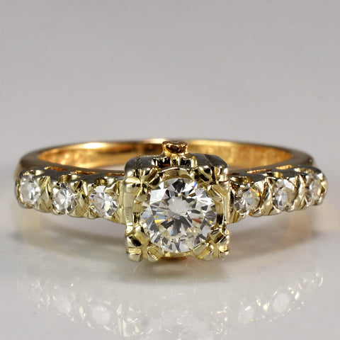 Vintage Engagement Ring Circa 1940's | 0.40 ctw, SZ 4 |