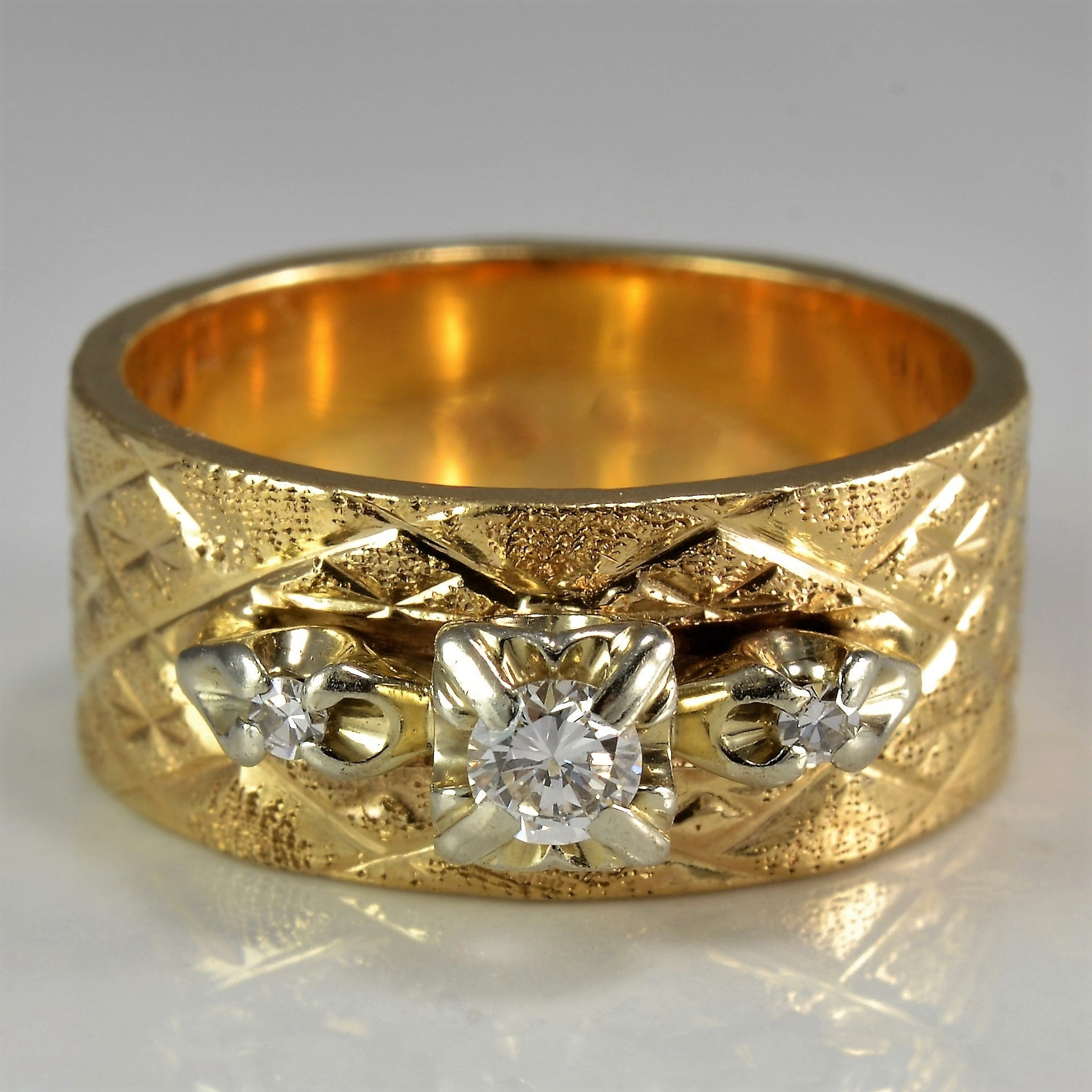 yellow band ring simon diamond rings white bands gold g wide