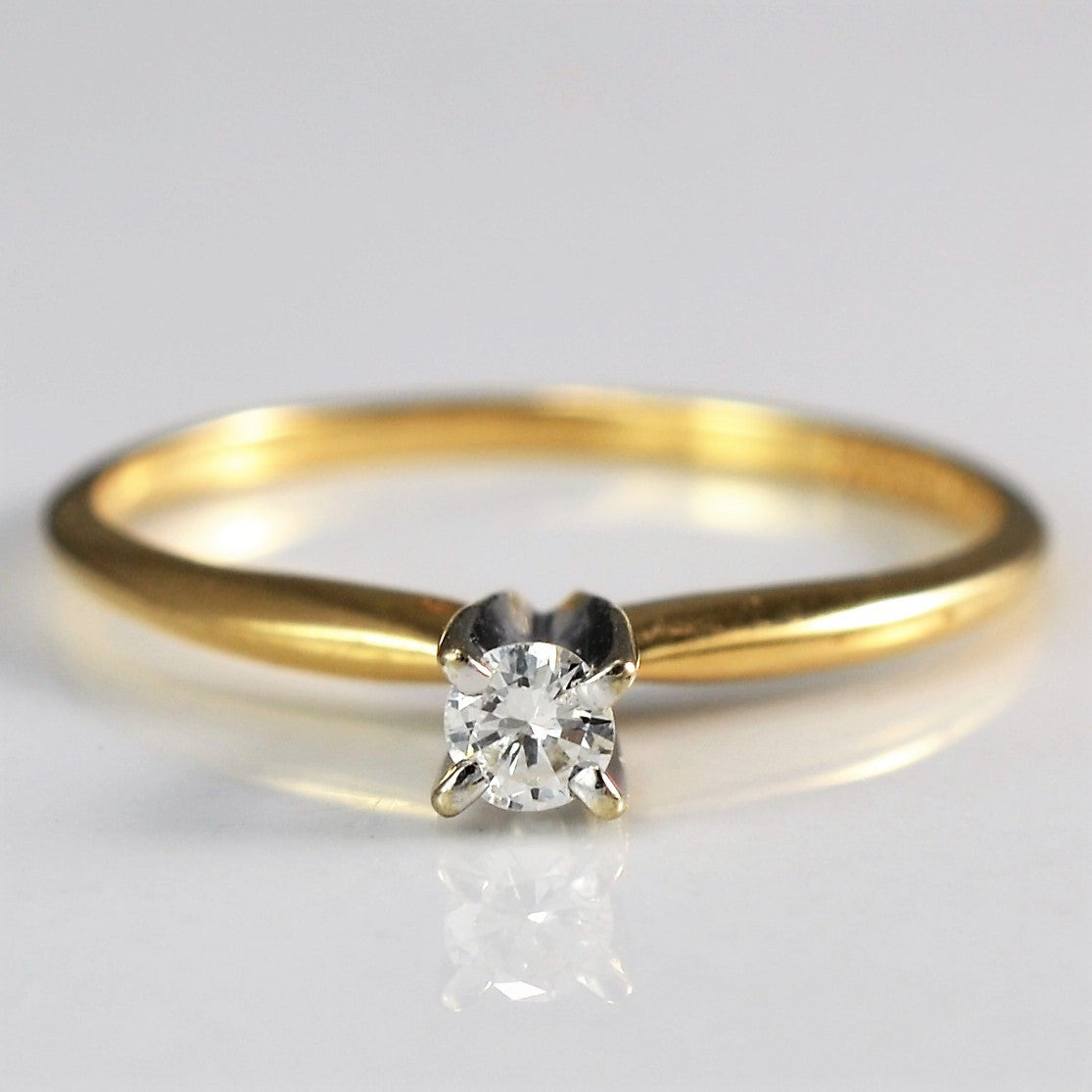 High Set Thin Tapered Band Solitaire | 0.08 ct, SZ 5.75 |