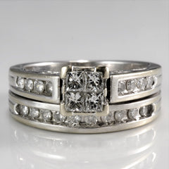 Engagement Ring & Wedding Band Soldered Set  | 0.55 ctw, SZ 5.25 |