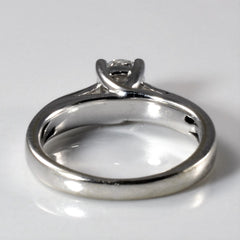 Tapered White Gold Solitaire Engagement Ring | 0.51ct | SZ 4.5 |
