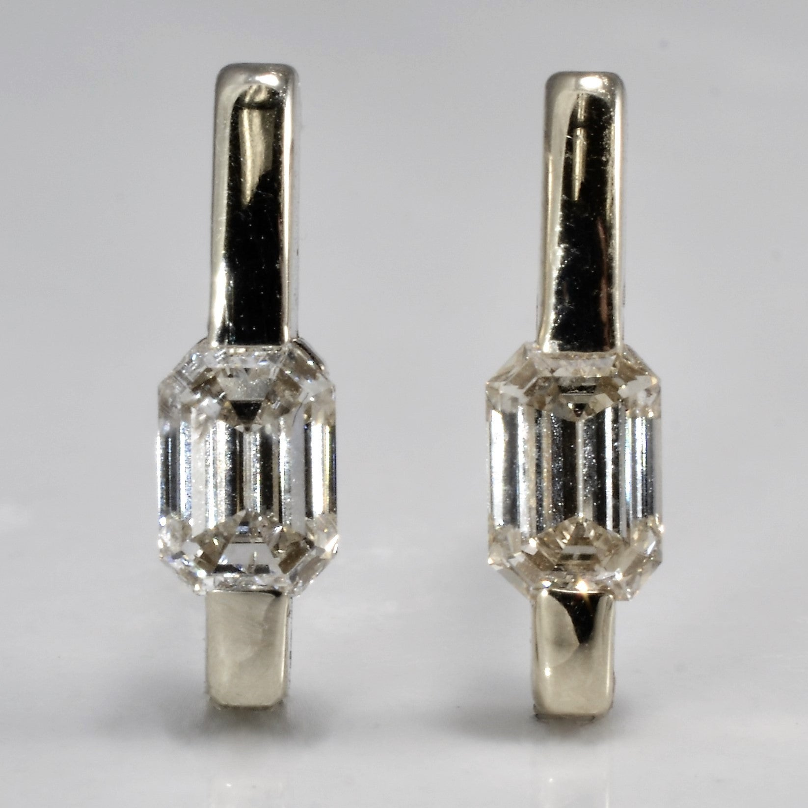 earrings silver diamond orsini in stud gallery lyst double adriana drop jewelry metallic