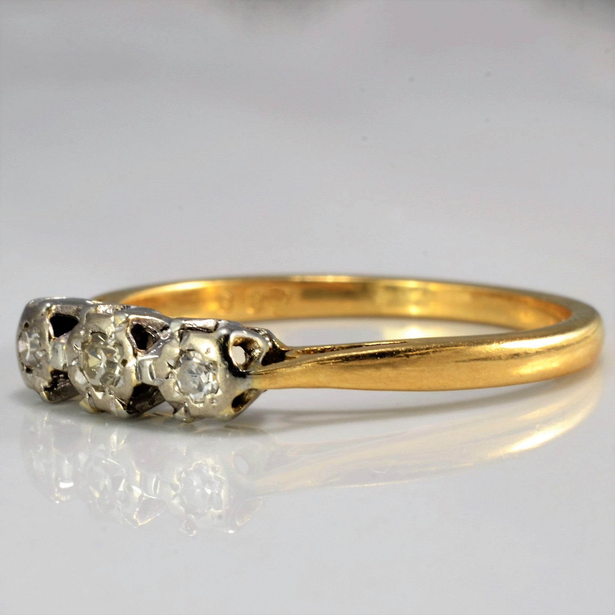 1960's Three Stone Ring | 0.08 ctw, SZ 6.25 |