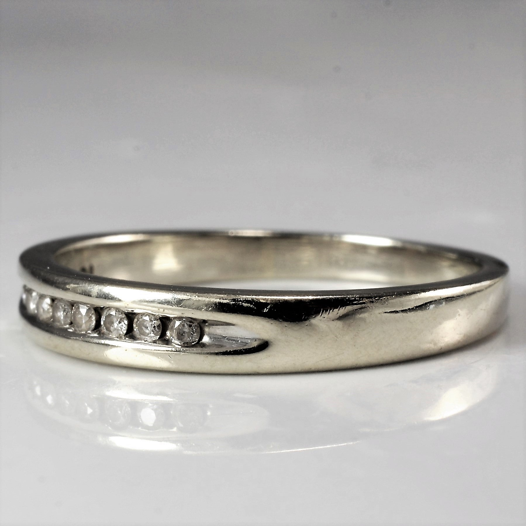 Petite Diamond Channel Band | 0.08 ctw, SZ 6.25 |