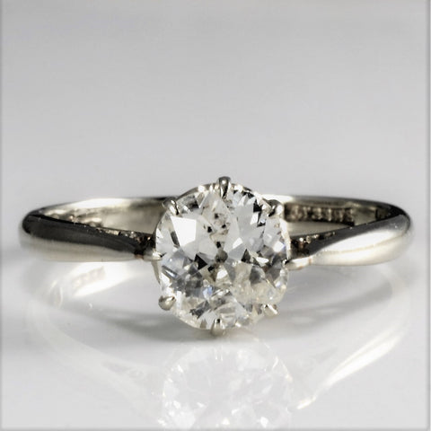 Solitaire Old Mine Diamond Engagement Ring | 0.75 ct, SZ 6.5 |