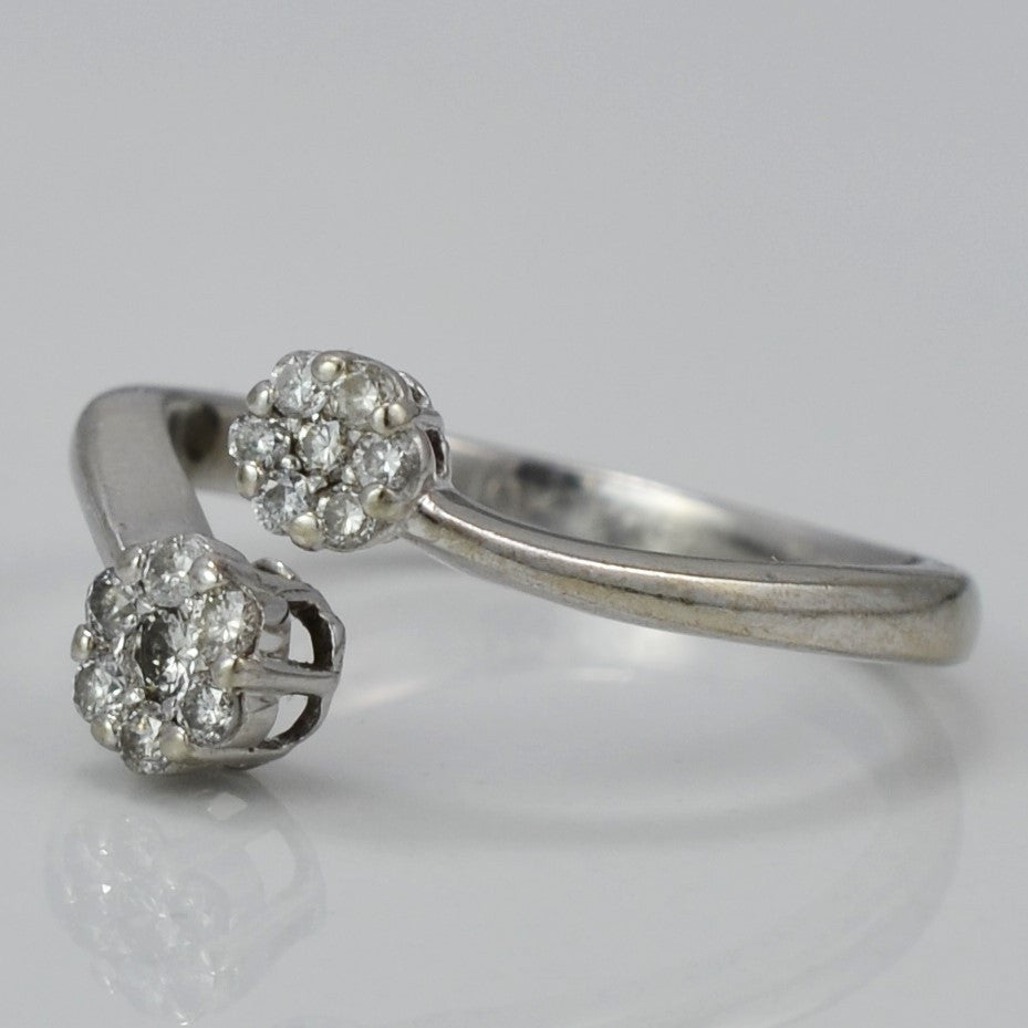 Diamond Bypass Cluster Ring | 0.12 ctw, SZ 5.25 |