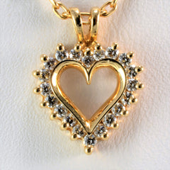 Classic Diamond Heart Necklace | 0.25 ctw, 18"