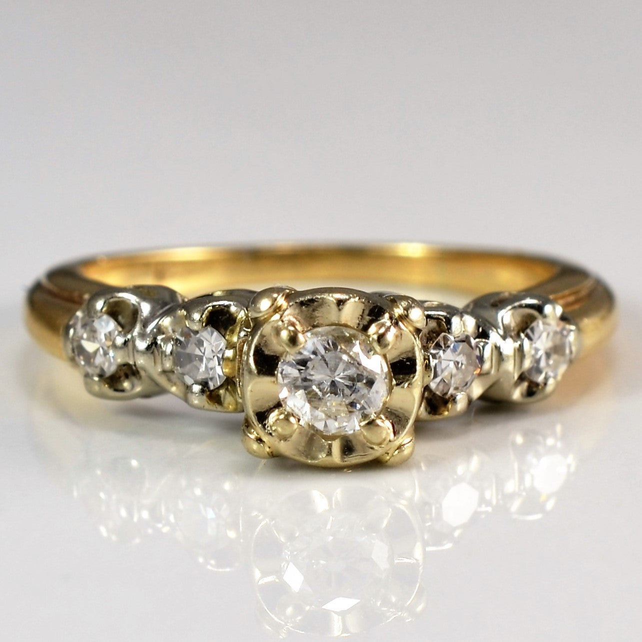 Illusion Set Engagement Ring | 0.31 ctw, SZ 5.75 |