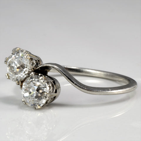 Bypass Two Stone Diamond Engagement Ring |1.28 ctw, SZ 7|