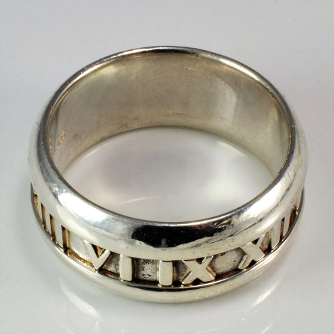 Tiffany & Co. Atlas Collection Roman Numeral Ring | SZ 9.5 |