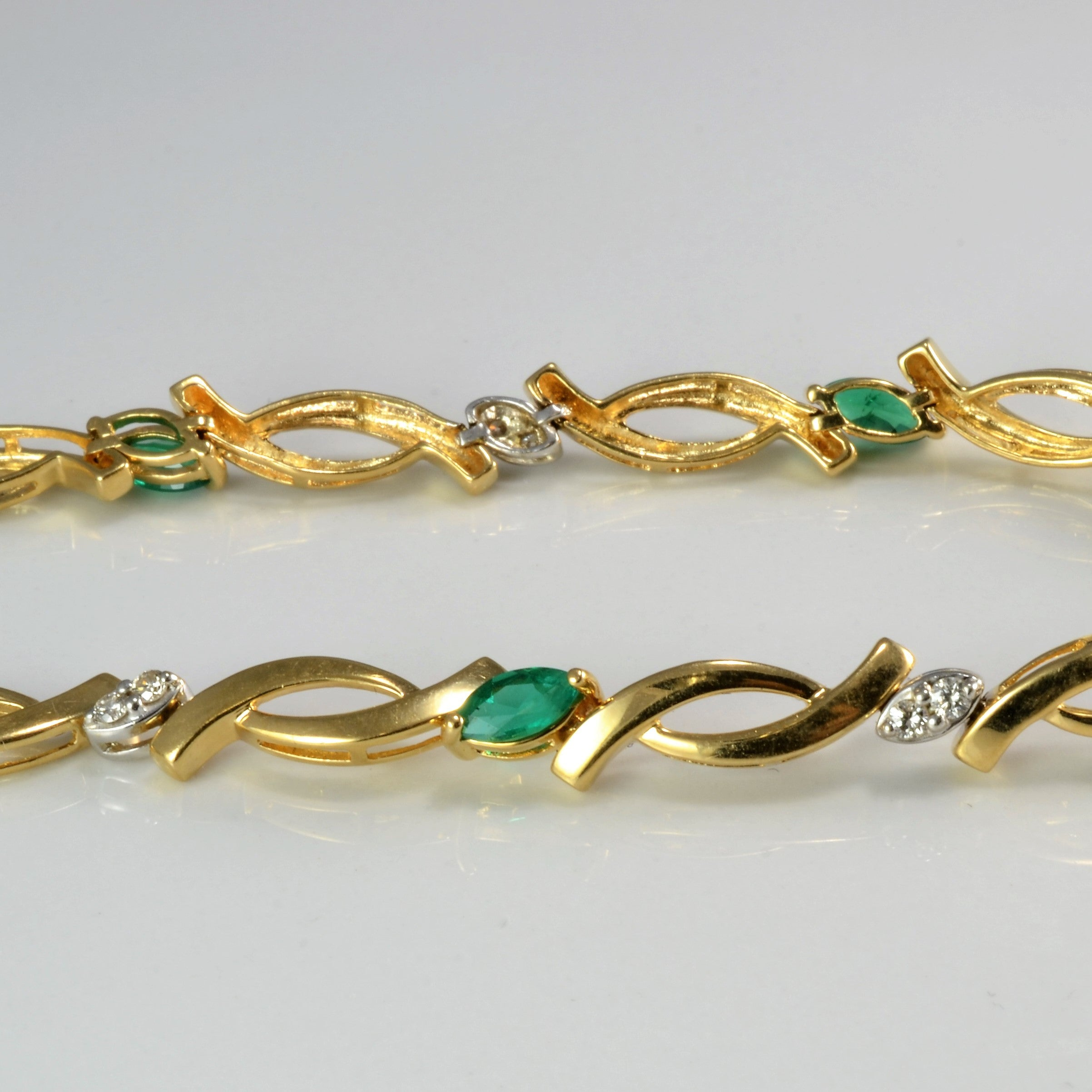 szor bracelet and freeman gold fern ff emerald bolo model collections diamond products