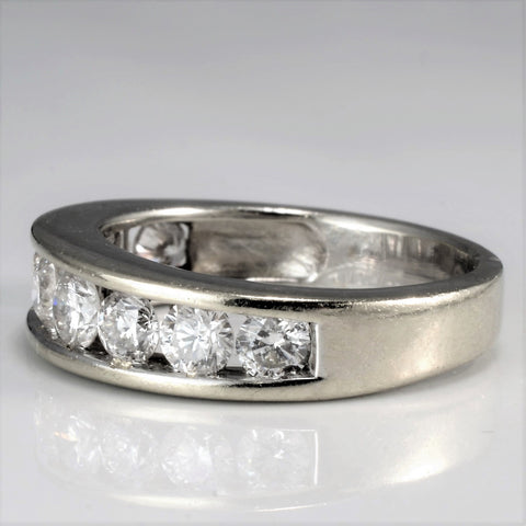 Channel Set Diamond Semi Eternity Petite Band | 0.81 ctw, SZ 4 |