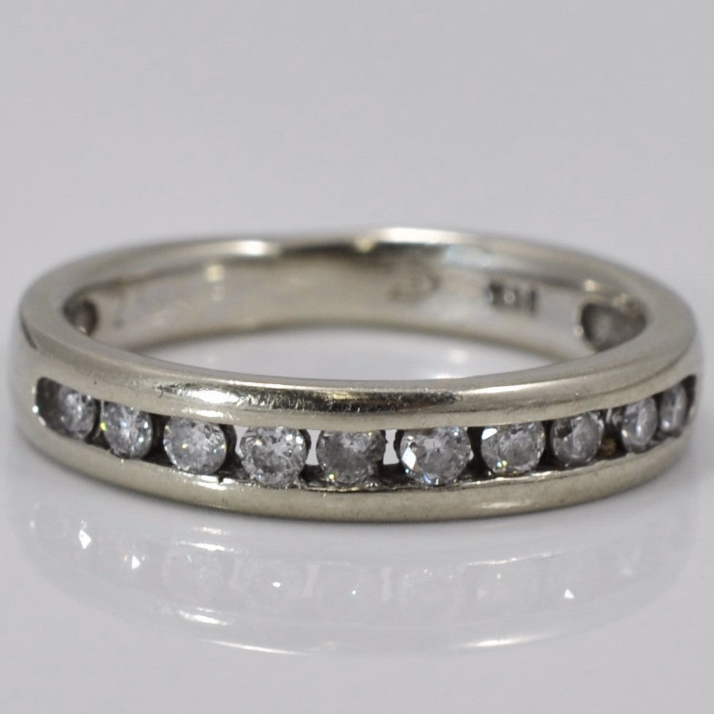 wedding band bling clear ring zirconia bands cubic eternity cz semi byj half jewelry sterling silver