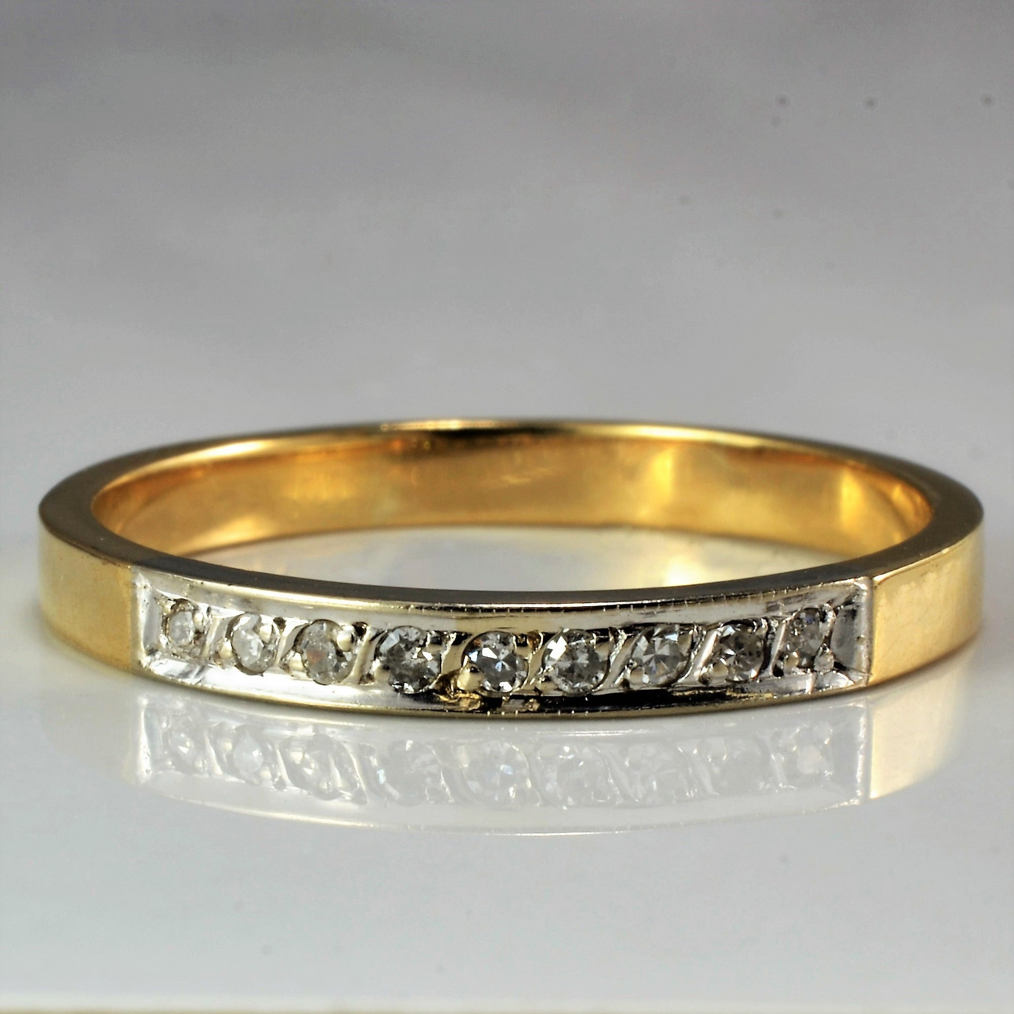 Two Tone Diamond Wedding Band | 0.04 ctw, SZ 9.75 |
