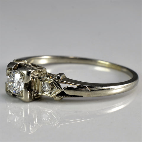 Petite Art Deco Era Engagement Ring | 0.17 ctw, SZ 5.75 |