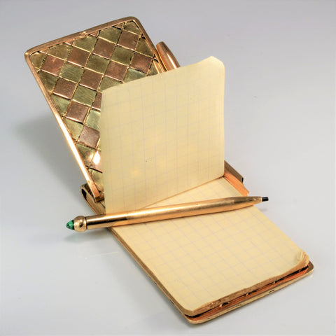 Vintage Gold Note Pad