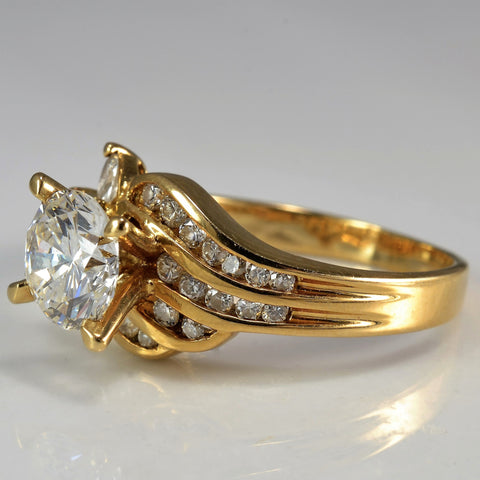 Elegant Marquise Accented Engagement Ring | 1.32 ctw, SZ 6 |
